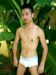 Sexy Thai Guy Nut Poses Naked Outdoors
