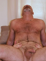 Hairy hunks lick and kiss every part of each others body