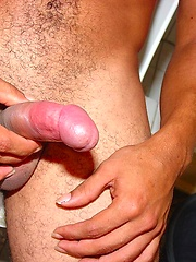 Cummy latino soccer boy in first adult session