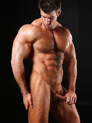 Zeb exposes his muscle hairy chest and big tool