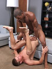 Landon slides his dick inside Austin tight anal