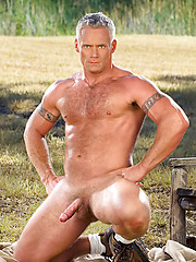 Well gung daddy posing outdoor