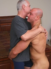 Hairy Joe Thunder serviced by perverted grandpa Jake