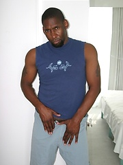 Black hunk shows his cock