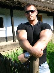 Sexy stallion man posing