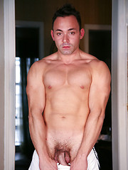 Hot tattoed latin dude riding condomed dick
