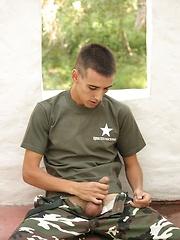 Nineteen year old cadet Erick Milano sucking and fucking