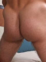 Stu has a super nice, muscular torso, hot hairy legs, and a really beautiful cock
