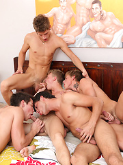 Young Cockyboys star Max Ryder in action with the Belami boys KinkyAngels