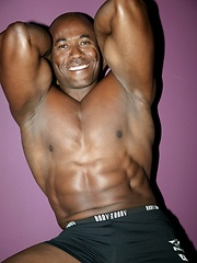 Muscled black daddy