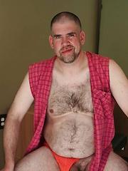 Hairy and Raw veteran Rhett Polnocy strips for the camera