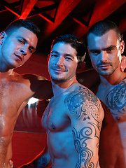Three of hottest guys together. Paddy O Brian, Issac Jones and Johnny Hazzard