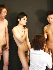 Four boys begin, but who will cum in the end