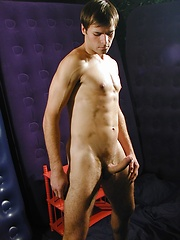 Ripped stud Pierre stroking his firm cock.