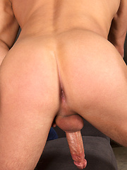 Blond Dusty and standing cock