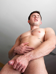 Andres Moreno shows off his hungry hole