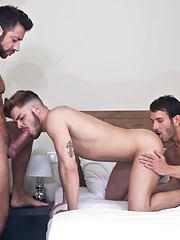 Valentino Medici, Fabio Lopez, and Mark Sanz Blow Their Raw Loads