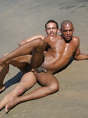 Bareback with Black Cock at the Beach