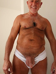 This sexy silver Daddy loves to fuck