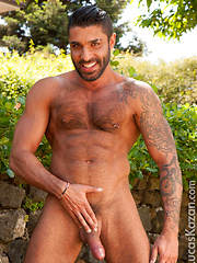 Raul's black hair, olive complexion and furry chest give away his roots: Italian AND Lebanese