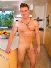 Drew shows his hairy chest