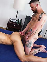 Sergeant Miles Takes Michael Lachlan's Uncut Aussie Cock
