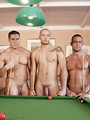Jake Ryder joins the team at a game of strip-pool and they all end up naked